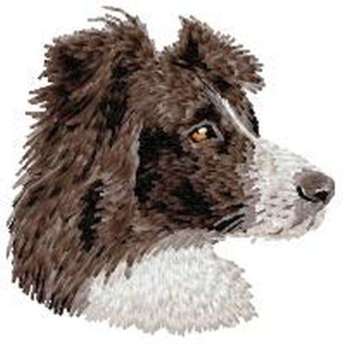 Border Collie Embroidered Patch 3.1""