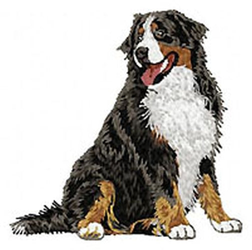 Bernese Mountain Dog (Full Body) Embroidered Patch (3.6 Inches Tall)