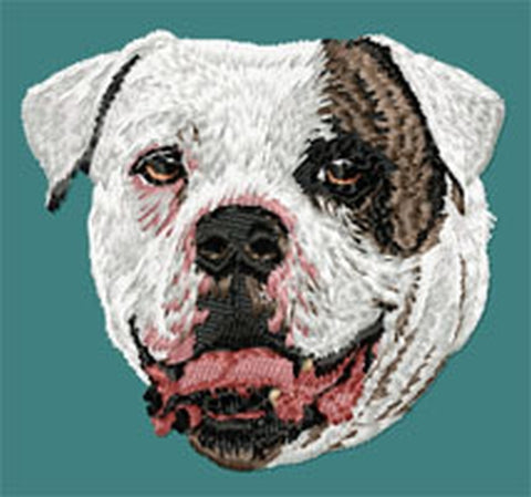 American Bulldog Embroidered Patch (2.9 Inches Tall)