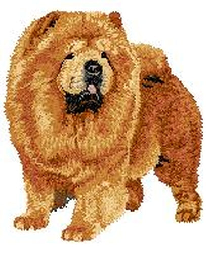 Chow Chow Dog (Full Body) Embroidered Patch (3.7 Inches Tall)
