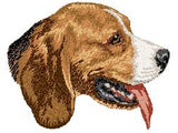 Beagle Dog Embroidered Patch (2.9 Inches Tall)