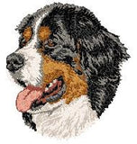 Bernese Mountain Dog Embroidered Patch (3.0 Inches Tall)