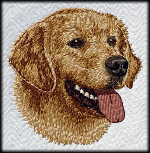 "Golden Retriever Dog Embroidered Patch 3"" Design GR10"