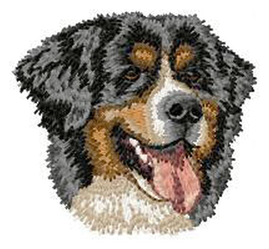 Bernese Mountain Dog Embroidered Patch (3.1 Inches Tall)