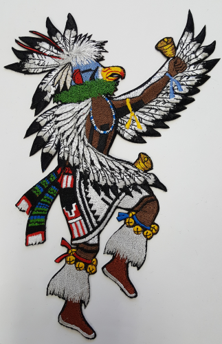 "Eagle Dancer, Eagle Kachina Embroidered Patch 10.5"" x 6.9"" FREE USA SHIPPING"