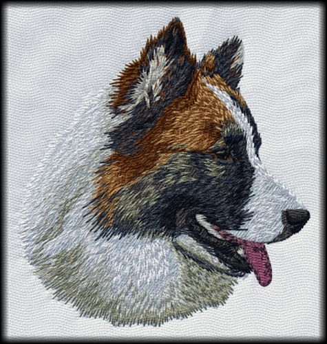 Islandic Sheepdog Embroidered Patch 3""