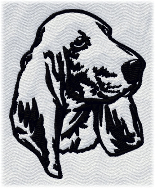 Basset Hound Dog Embroidered Patch 2.9 Inches Tall