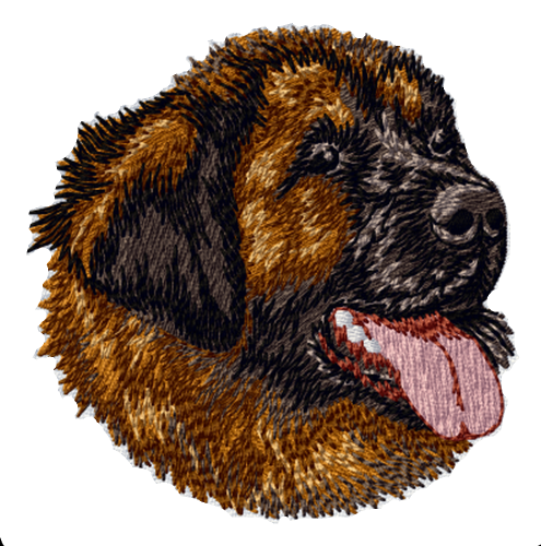 "Leonberger Dog Embroidered Patch 3"" FREE USA SHIPPING"