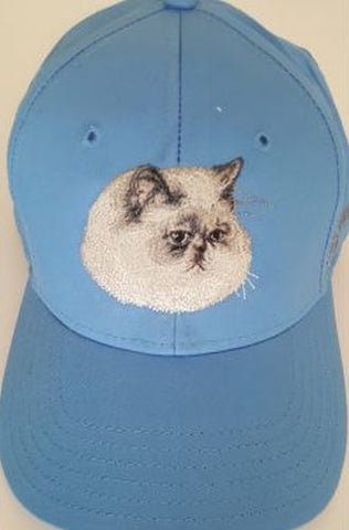 Persian Cat Embroidered Hat