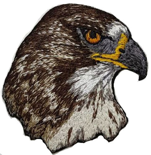"Red-Tailed Hawk Embroidered Patch 2.5"" x  2.5"" Free USA Shipping"