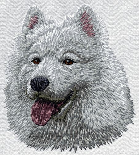 Samoyed Dog Embroidered Patch