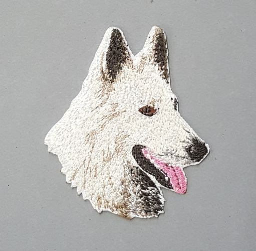 White Swiss Shepherd Dog Embroidered Hat