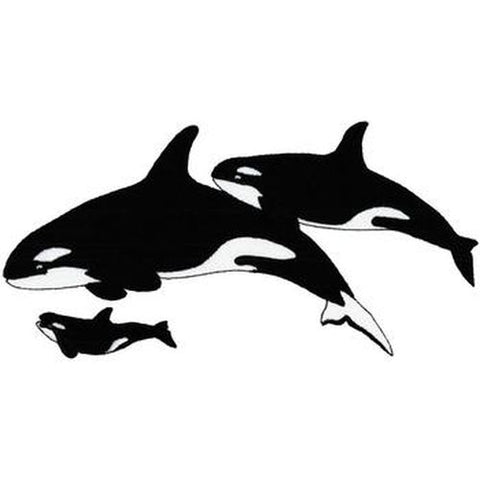 "Whale Orca Killer Whales Embroidered Patch 8.9""x 5"""