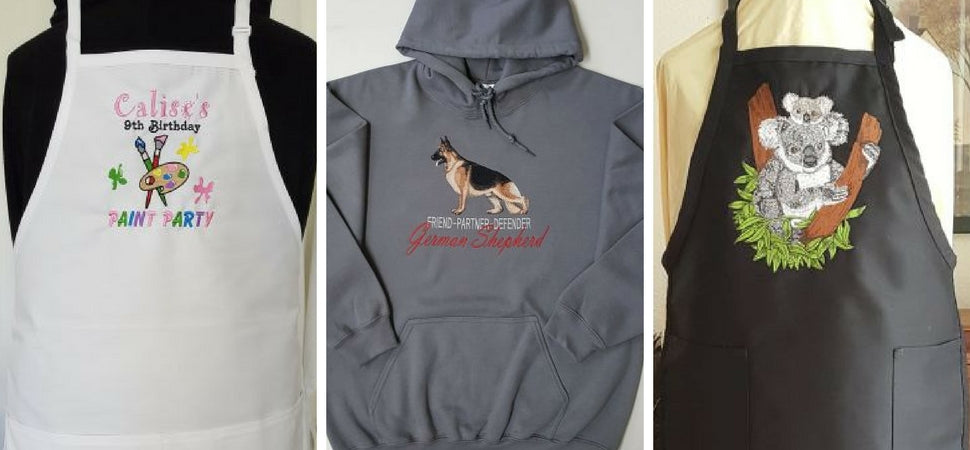 Custom Embroidered Aprons and Sweatshirts