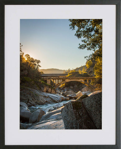 Yuba River Framed Print - Sunset at 49 Crossing