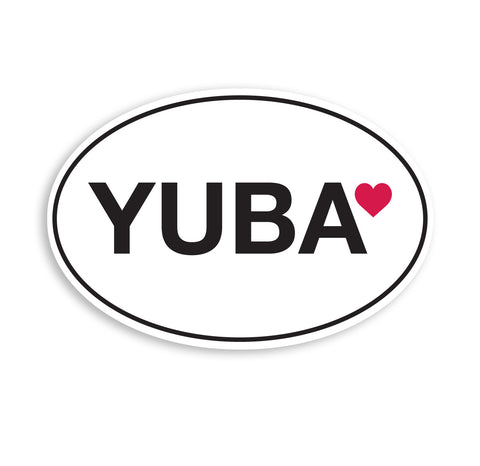 Yuba Love Bumper Sticker