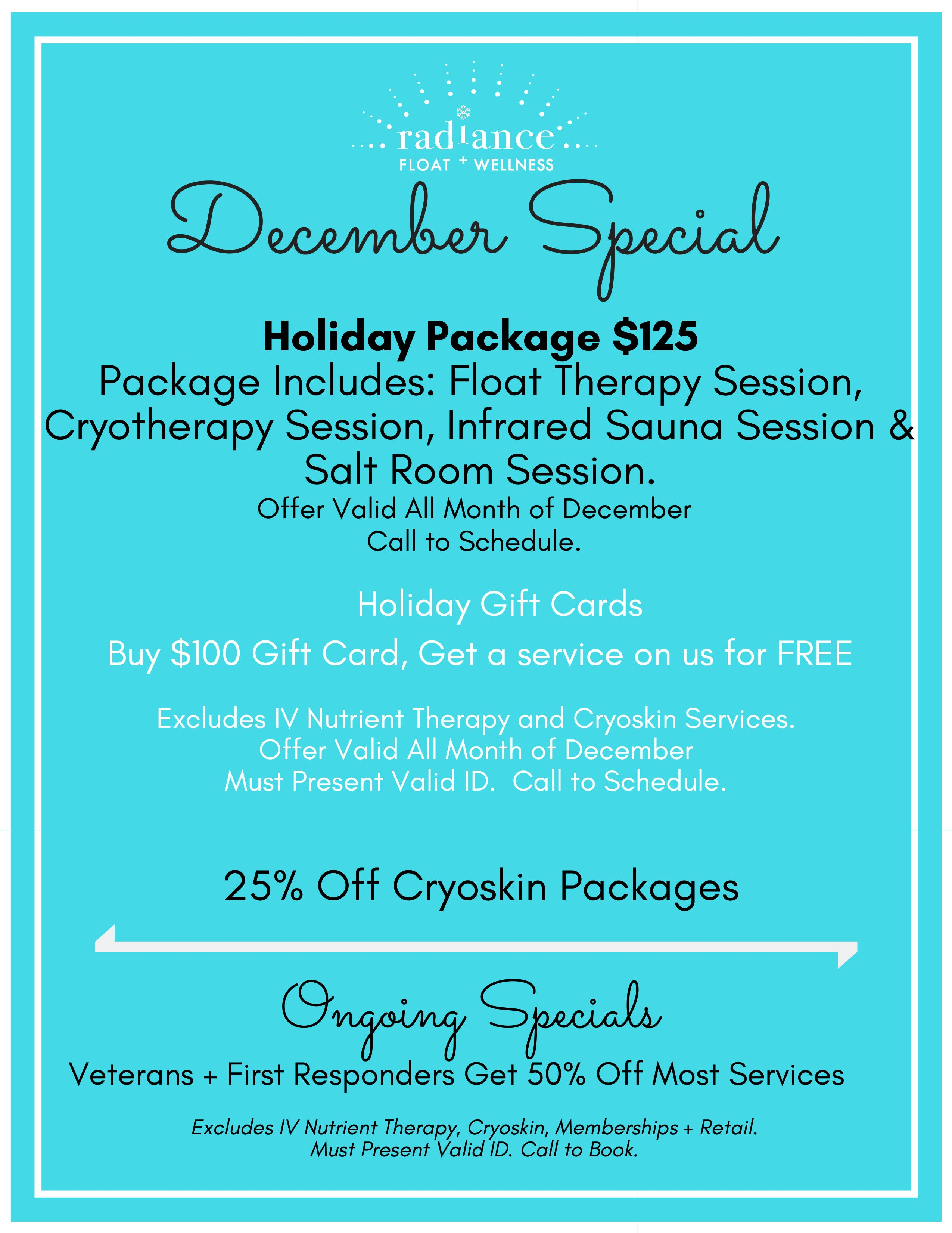 Radiance St. Louis December holiday specials and deals