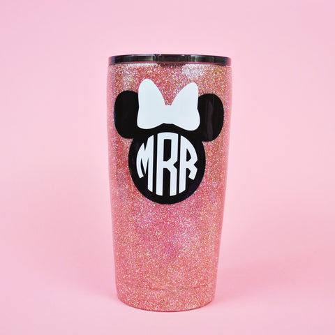 Basic Mouse Monogram Stainless Steel Tumbler