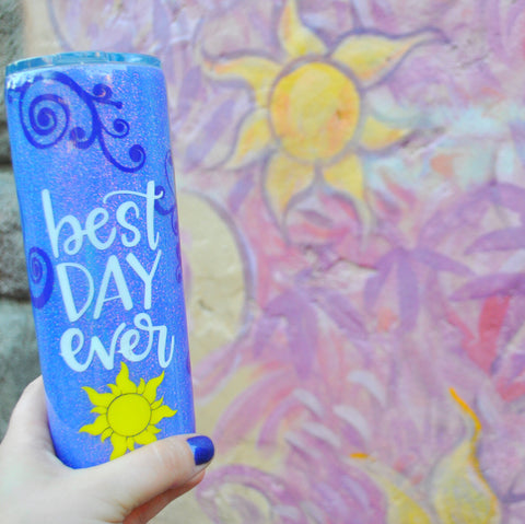 Best Day Ever Stainless Steel Skinny Tumbler