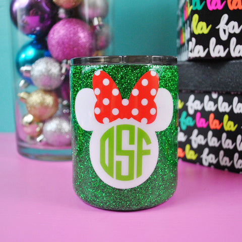 PREORDER /// Mouse Monogram Christmas Lowball Tumbler