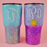 Princess Monogram Stainless Steel Tumblers