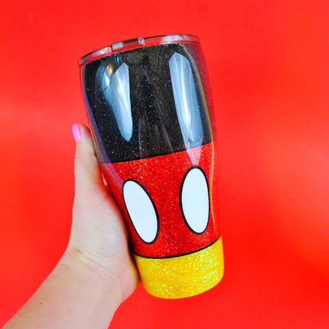 Main Mouse /// Stainless Steel Glitter Tumbler