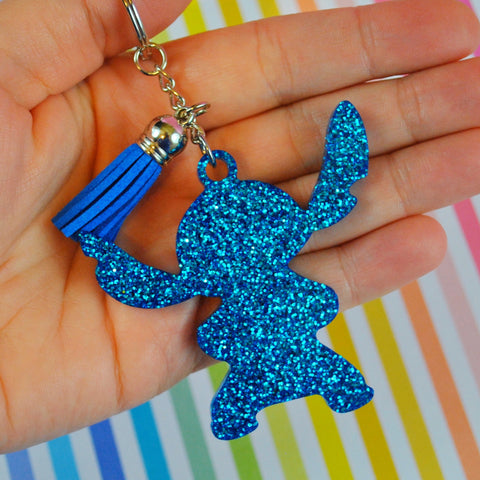 Blue Alien Key Bling/ Bag Charm ///RTS