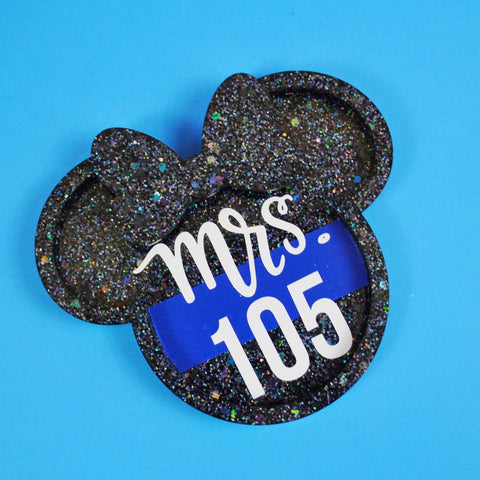 Thin Line Glitter Mouse Ring Dish