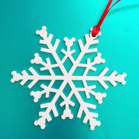 Mouse Snowflake Christmas Ornament