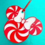 Miss Mouse Candy Cane Christmas Ornament