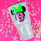 Confetti Mouse Monogram Stainless Steel Tumbler