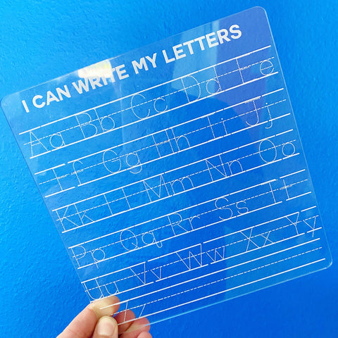 I Can Write My Letters /// Alphabet Writing Board