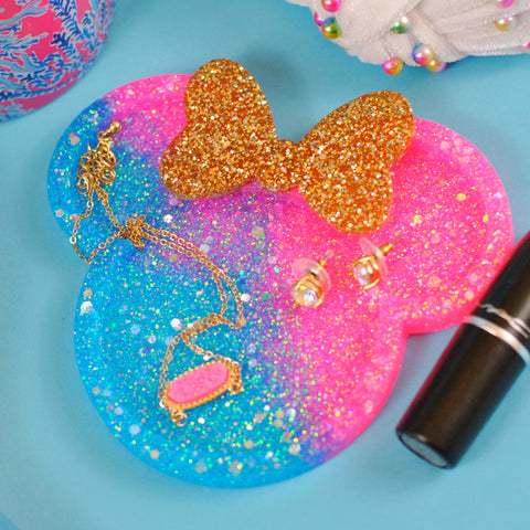 Glitter Mouse Ring Dish