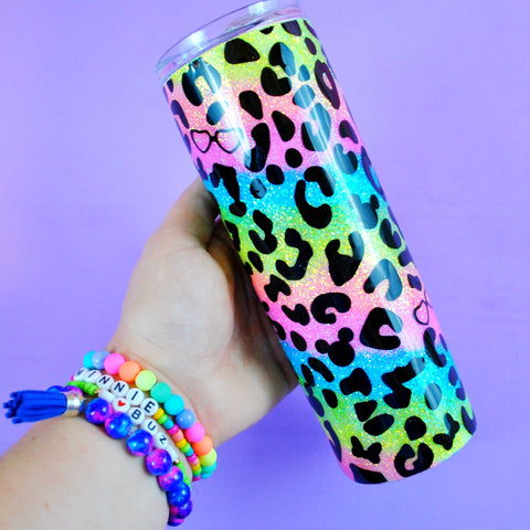 Rainbow Leopard // Summer Mouse /// Stainless Steel Tumbler