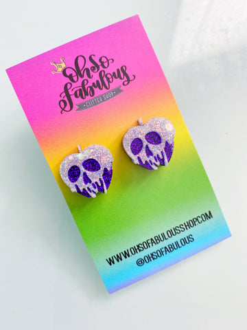 Poison Apple Studs /// Ready to Ship /// RTS