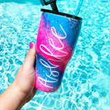Name Swirl Stainless Steel Tumbler