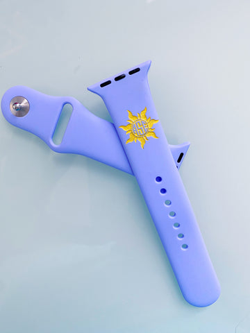 Lost Princess Sun Monogram Engraved Silicone Watch Band