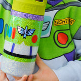 The ORIGINAL Space Ranger /// Stainless Steel Glitter Coated Tumbler