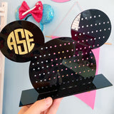 Mouse Monogram Acrylic Earring Holder