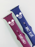 Mouse Monogram Engraved Silicone Watch Band
