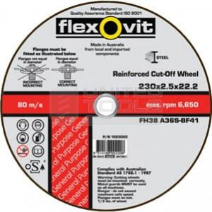 Flexovit 100 X 2.5 X 16.0 FH38 Metal Cut Off Disc
