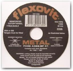 Flexovit 356x3.0x25.4 Fast Cut Cut Off Wheel