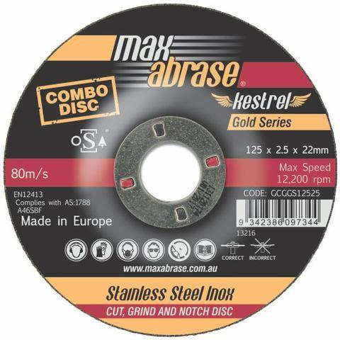 Maxabrase Gold Series Inox Cutting Disc - 1.0mm