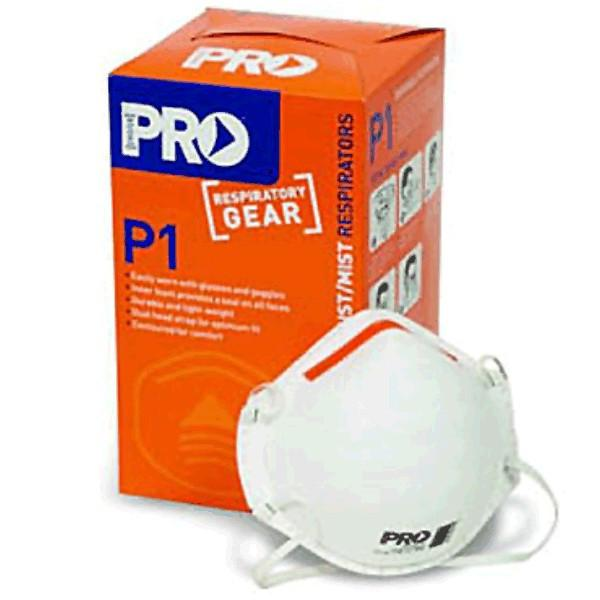 P1 Non Valved Dust Mask Box Of 20