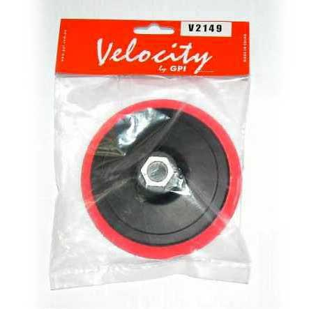 Velocity 125mm X 12mm X M14 Velocity Velcro Back-Up Pad (No Hole)