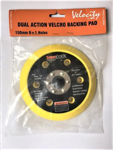 V3011-150mm X 12mm X 5/16 Thread Velocity Velcro Back-Up Pad (6 Hole)