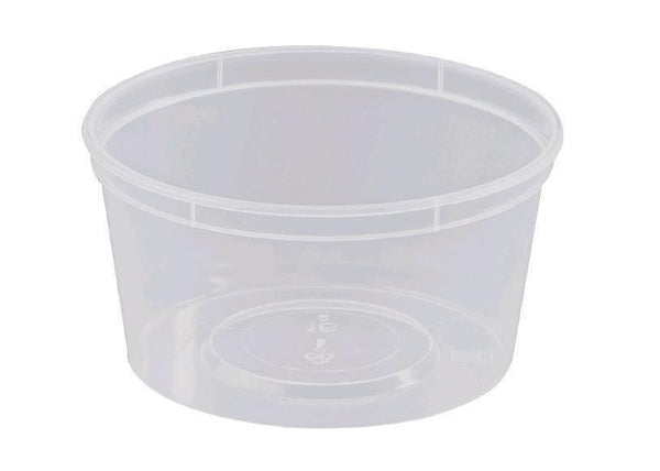 BS16 - 440ml Round Clear Plastic Containers
