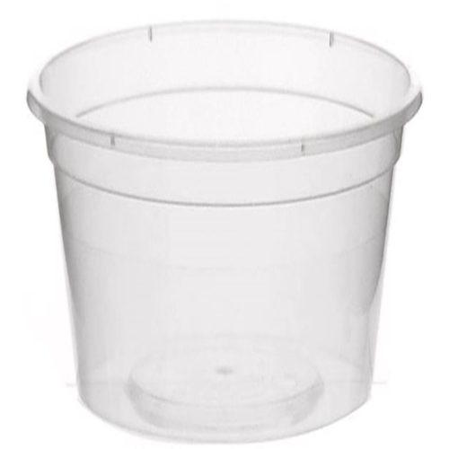 BS30 700ml Round Clear Plastic Container