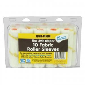 Little Ripper 10 pack Fabric Roller Covers 100mm Yellow Stripe