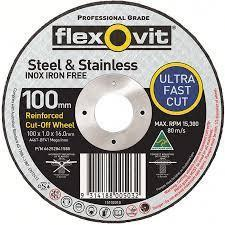15102010 - Flexovit - Ultra Thin Cut Off Disc - 100 X 1.0 X 16